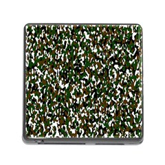Camouflaged Seamless Pattern Abstract Memory Card Reader (Square)