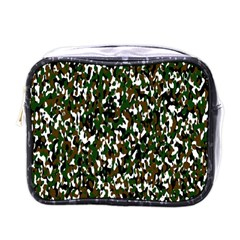 Camouflaged Seamless Pattern Abstract Mini Toiletries Bags