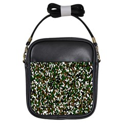 Camouflaged Seamless Pattern Abstract Girls Sling Bags