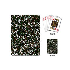 Camouflaged Seamless Pattern Abstract Playing Cards (mini)