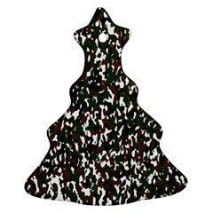 Camouflaged Seamless Pattern Abstract Christmas Tree Ornament (Two Sides)