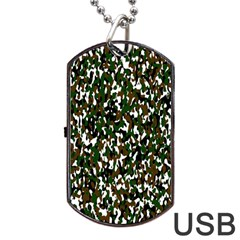 Camouflaged Seamless Pattern Abstract Dog Tag Usb Flash (one Side)