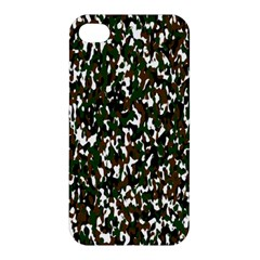 Camouflaged Seamless Pattern Abstract Apple Iphone 4/4s Hardshell Case