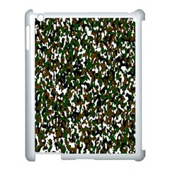 Camouflaged Seamless Pattern Abstract Apple iPad 3/4 Case (White)