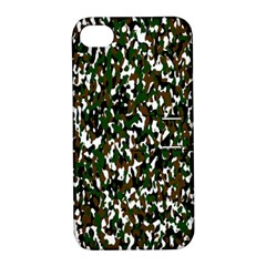 Camouflaged Seamless Pattern Abstract Apple Iphone 4/4s Hardshell Case With Stand