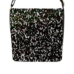 Camouflaged Seamless Pattern Abstract Flap Messenger Bag (L)