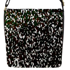Camouflaged Seamless Pattern Abstract Flap Messenger Bag (S)