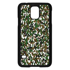 Camouflaged Seamless Pattern Abstract Samsung Galaxy S5 Case (black)