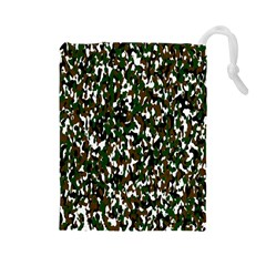 Camouflaged Seamless Pattern Abstract Drawstring Pouches (Large)