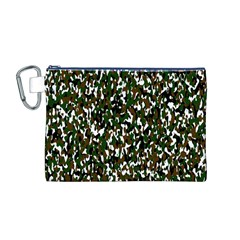 Camouflaged Seamless Pattern Abstract Canvas Cosmetic Bag (M)