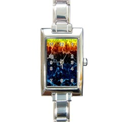 Abstract Background Rectangle Italian Charm Watch