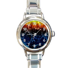 Abstract Background Round Italian Charm Watch