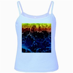 Abstract Background Baby Blue Spaghetti Tank