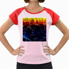 Abstract Background Women s Cap Sleeve T-Shirt