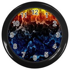 Abstract Background Wall Clocks (Black)