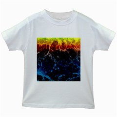 Abstract Background Kids White T-Shirts