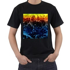 Abstract Background Men s T-Shirt (Black) (Two Sided)