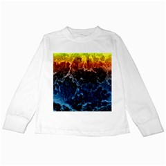 Abstract Background Kids Long Sleeve T-Shirts