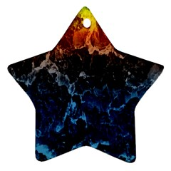 Abstract Background Star Ornament (Two Sides)