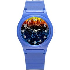Abstract Background Round Plastic Sport Watch (s)