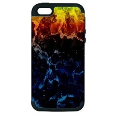 Abstract Background Apple Iphone 5 Hardshell Case (pc+silicone)