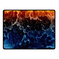 Abstract Background Double Sided Fleece Blanket (small)