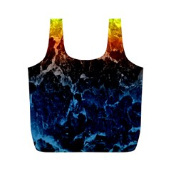 Abstract Background Full Print Recycle Bags (M)