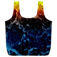 Abstract Background Full Print Recycle Bags (L)