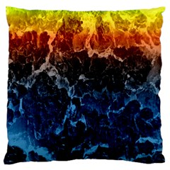 Abstract Background Large Flano Cushion Case (two Sides)