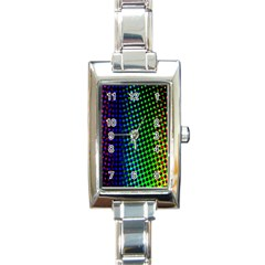 Digitally Created Halftone Dots Abstract Background Design Rectangle Italian Charm Watch