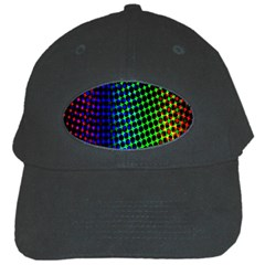 Digitally Created Halftone Dots Abstract Background Design Black Cap