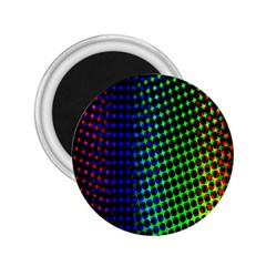 Digitally Created Halftone Dots Abstract Background Design 2.25  Magnets