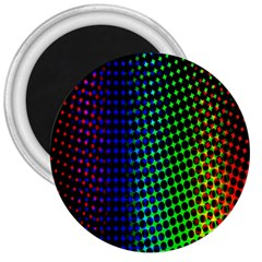 Digitally Created Halftone Dots Abstract Background Design 3  Magnets
