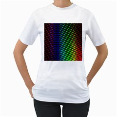 Digitally Created Halftone Dots Abstract Background Design Women s T-Shirt (White) (Two Sided)