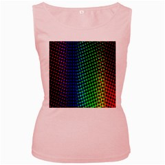 Digitally Created Halftone Dots Abstract Background Design Women s Pink Tank Top