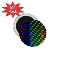 Digitally Created Halftone Dots Abstract Background Design 1 75  Magnets (100 Pack)