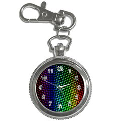 Digitally Created Halftone Dots Abstract Background Design Key Chain Watches