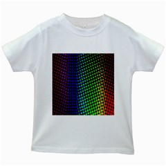 Digitally Created Halftone Dots Abstract Background Design Kids White T-Shirts