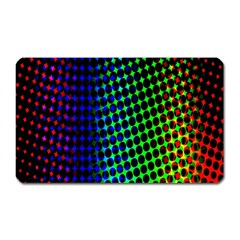 Digitally Created Halftone Dots Abstract Background Design Magnet (rectangular)