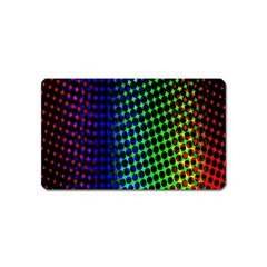Digitally Created Halftone Dots Abstract Background Design Magnet (Name Card)