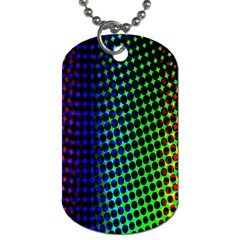 Digitally Created Halftone Dots Abstract Background Design Dog Tag (One Side)