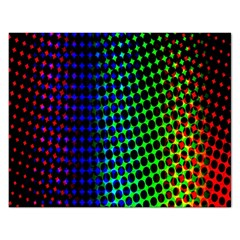 Digitally Created Halftone Dots Abstract Background Design Rectangular Jigsaw Puzzl