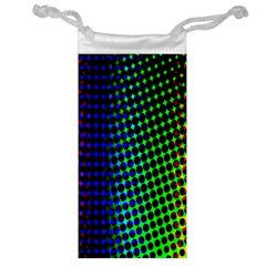 Digitally Created Halftone Dots Abstract Background Design Jewelry Bag