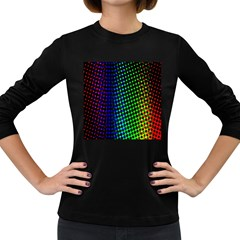 Digitally Created Halftone Dots Abstract Background Design Women s Long Sleeve Dark T Shirts