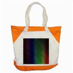 Digitally Created Halftone Dots Abstract Background Design Accent Tote Bag