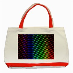 Digitally Created Halftone Dots Abstract Background Design Classic Tote Bag (red)