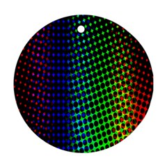 Digitally Created Halftone Dots Abstract Background Design Round Ornament (two Sides)