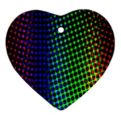 Digitally Created Halftone Dots Abstract Background Design Heart Ornament (Two Sides)