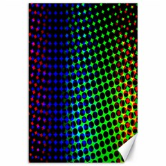 Digitally Created Halftone Dots Abstract Background Design Canvas 12  x 18