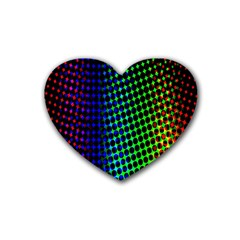 Digitally Created Halftone Dots Abstract Background Design Rubber Coaster (heart)